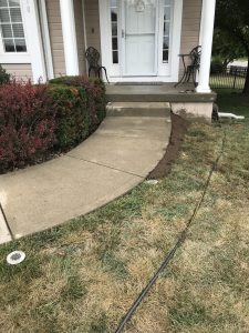 sunken sidewalk after picture in Overland Park, KS serviced by Accountable Mudjacking LLC