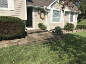 sunken sidewalk after mudjacking picture in Kansas City by Accountable Mudjacking LLC