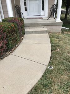 sunken sidewalk in Overland Park before mudjacking picture